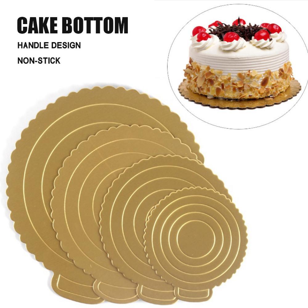 Runde Kuchen Kissen Geburtstag Kuchen Hard Tablett Harte Tablett Reusable Plastic Unterstützung Dichtung Kuchen Tablett Matte Runde Geburtstag Kuchen kissen