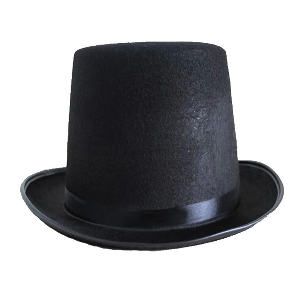Chapéu superior jazz chapéu halloween fabricantes adereços 78g (grande) alta 16 cm para magia cosplay dropshipping