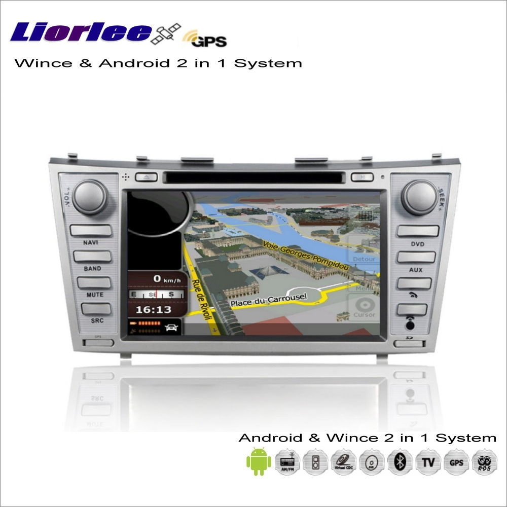 Liorlee para Toyota Camry 2009-2011 coche Multimedia Android Radio CD DVD Player GPS Navi navegación de mapa de Audio y Video sistema estéreo
