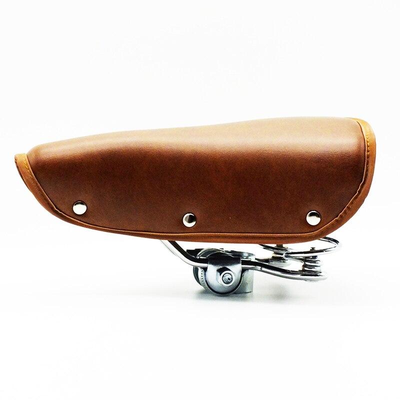 Винтажное велосипедное седло в ретро стиле, классическое велосипедное седло с пружинным прочным покрытием, Аксессуары для велосипеда