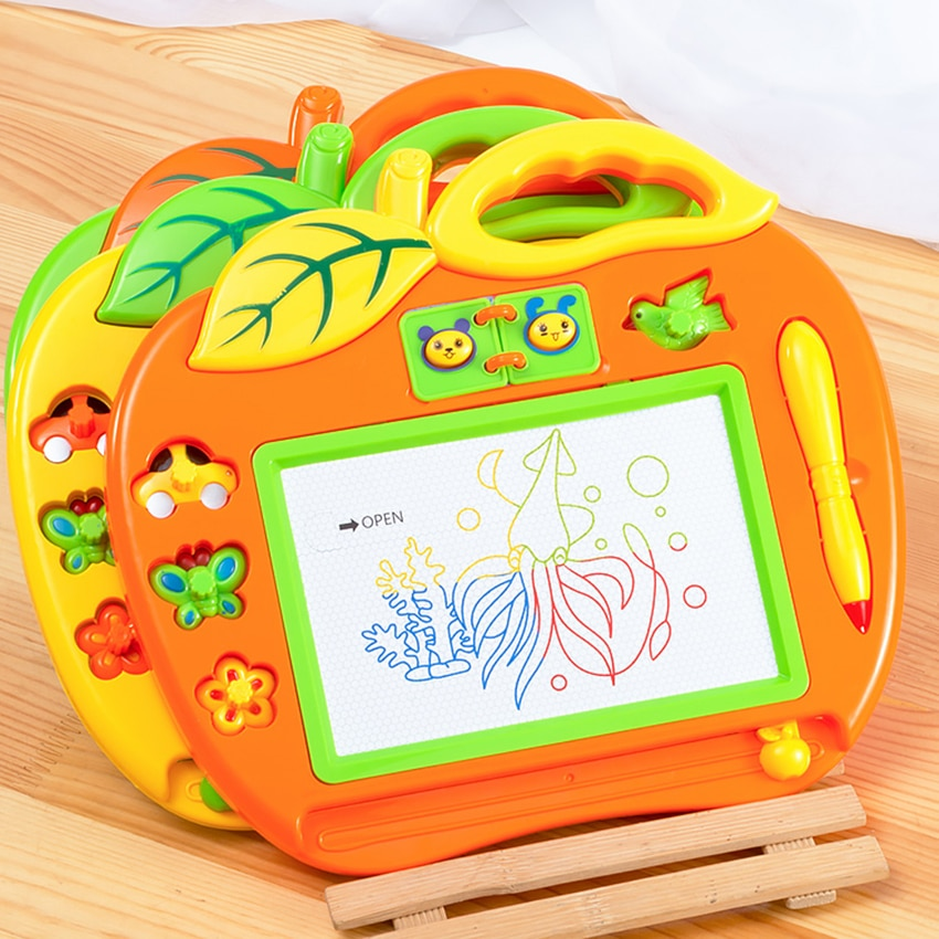 1pcs Colorful Small Magnetic Drawing Board Toy for Kids, Graffiti Board Writing Painting Sketching Pad Educational Learning Toys wood figurines easel racks double sided magnetic small blackboard brackets baby painting board wooden drawing educational toys
