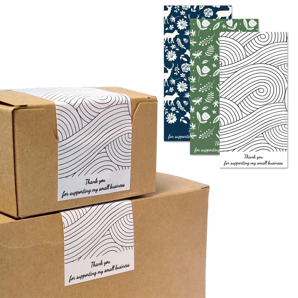 50-unids-pack-deja-gracias-por-apoyar-a-pequenas-pegatinas-rectangular-etiquetas-de-etiqueta-para-paquete-de-envio-de-correo