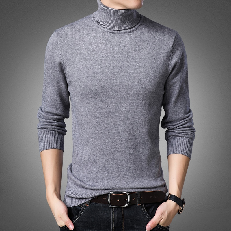 autumn and winter sweater women 2020 new slim size long sleeve bottoming shirt students korean warm sweater t shirt tide 2021 Korean Slim Solid Color Turtleneck Sweater Mens Winter Long Sleeve Warm Knit Sweater Classic Solid Casual Bottoming Shirt
