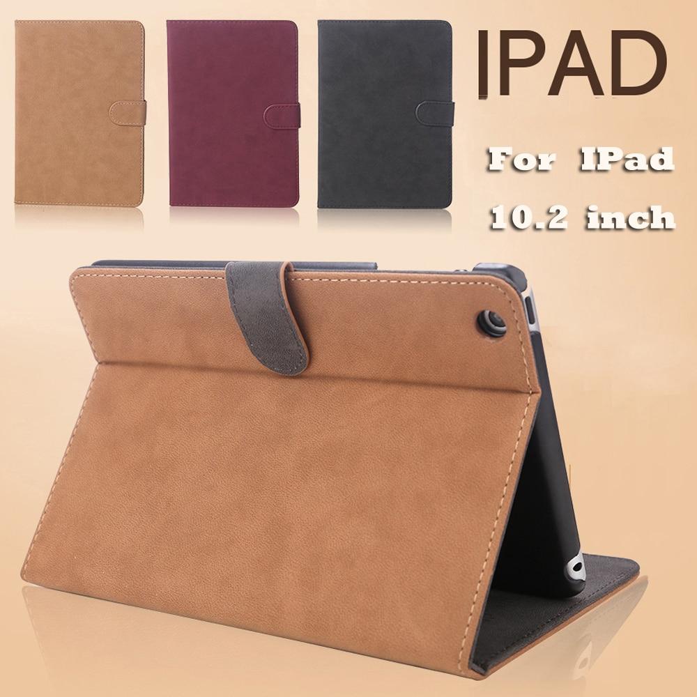 Scrub Leather Case For IPad 10.2 Case Wakeup/Sleep Cover Case For iPad Air 2 Case 2018 9.7 Case For IPad 7th Generation Case