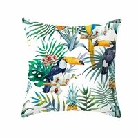 nordic decorative home cushion cover for sofa pillowcase case seat car pillowcase tropical plants pillow covers 45x45cm