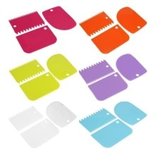 Cake Scraper Fondant Spatulas Cake Edge Smoother Cream Decorating DIY Bakeware Tableware Cooking Kit