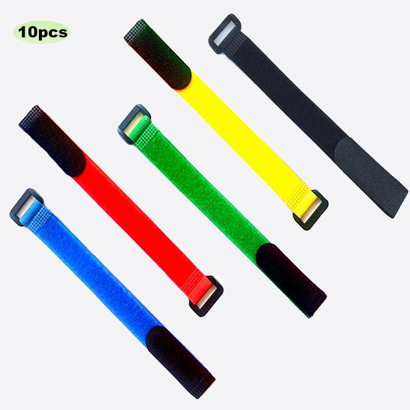10 unids/lote de 2x20cm/2x30cm de nailon, gancho de hebilla inversa, gancho mágico,...