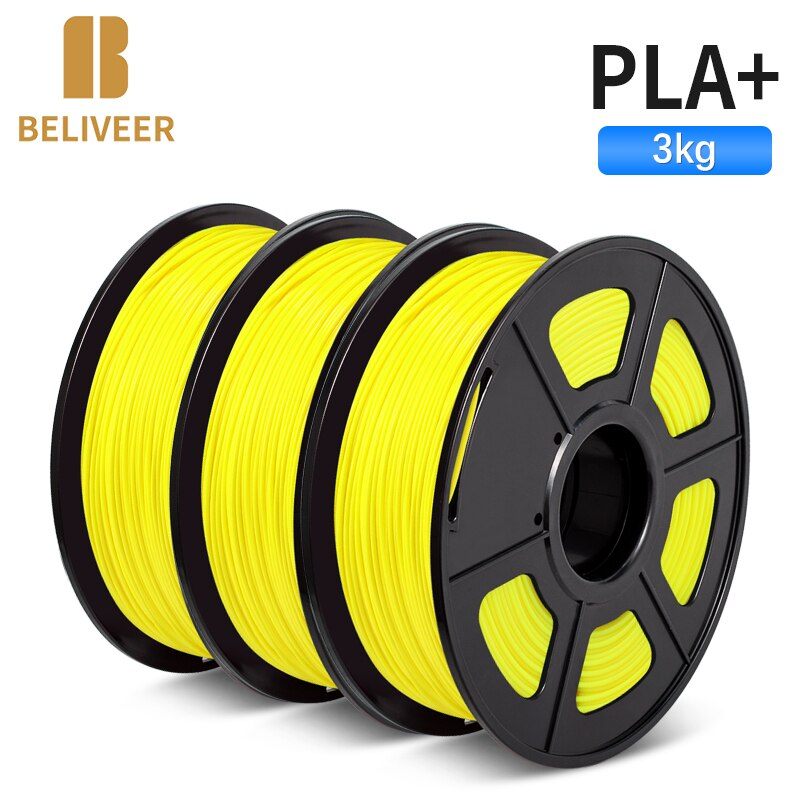 PLA PLUS 3D Filament 3D Printer 1.75MM 3 Rolls/Set Filament For All 3D Printer&3D Pen 100% Zero Bubble BELIVEER 3D