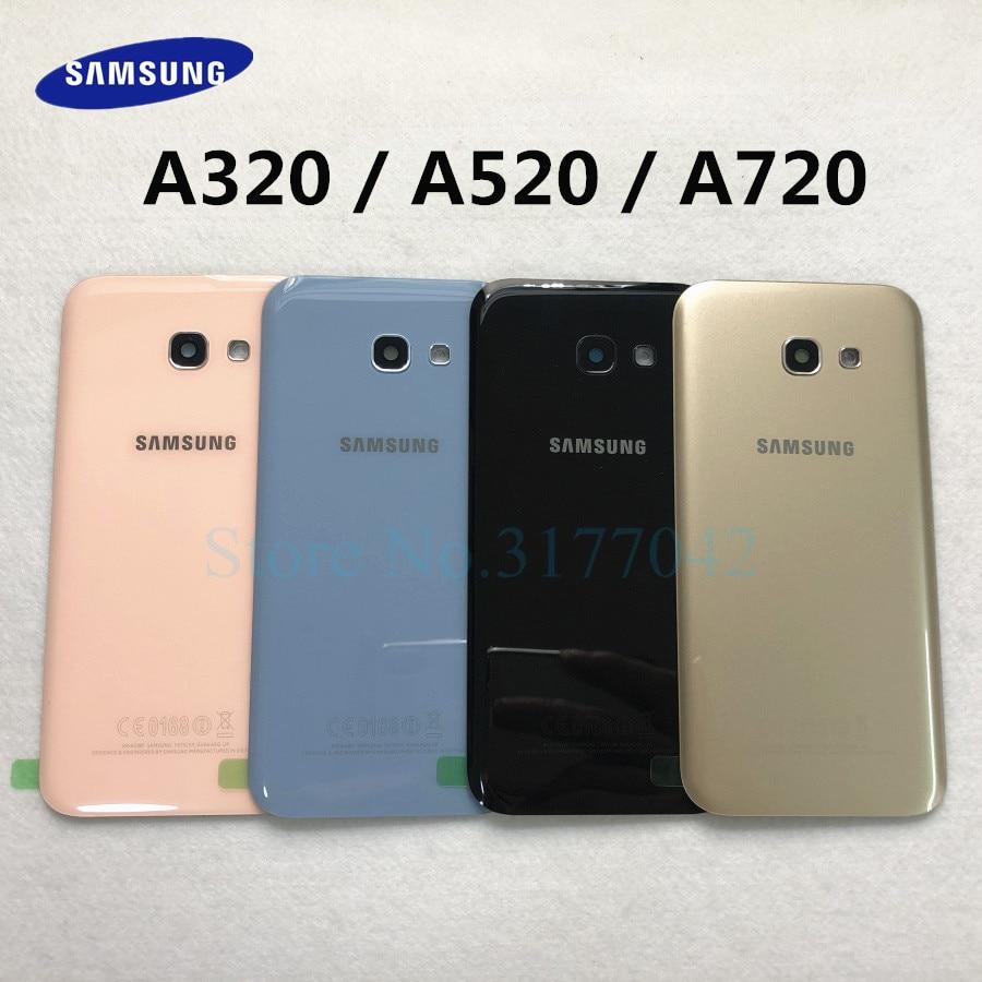 Задняя крышка для SAMSUNG A320 A520 A720 для Samsung Galaxy A5 A3 A7 2017 SM-A520F SM-A320F SM-A720F задняя крышка из стекла