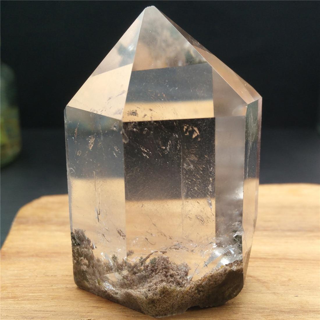 Torre de Cristal fantasma Fantasma Da Ilha de Pedra Pedras Cristais Wicca Pierre Naturelle et Cristaux de Cura Natural Decoração de Cristal de Quartzo
