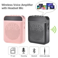 portable voice amplifier with mic headphone personal microphone speaker for teachers tour guides trainers