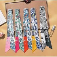 high end womens scarf paris printing luxury brand womens headscarf headband tie bag streamer ladies neck shawl g75