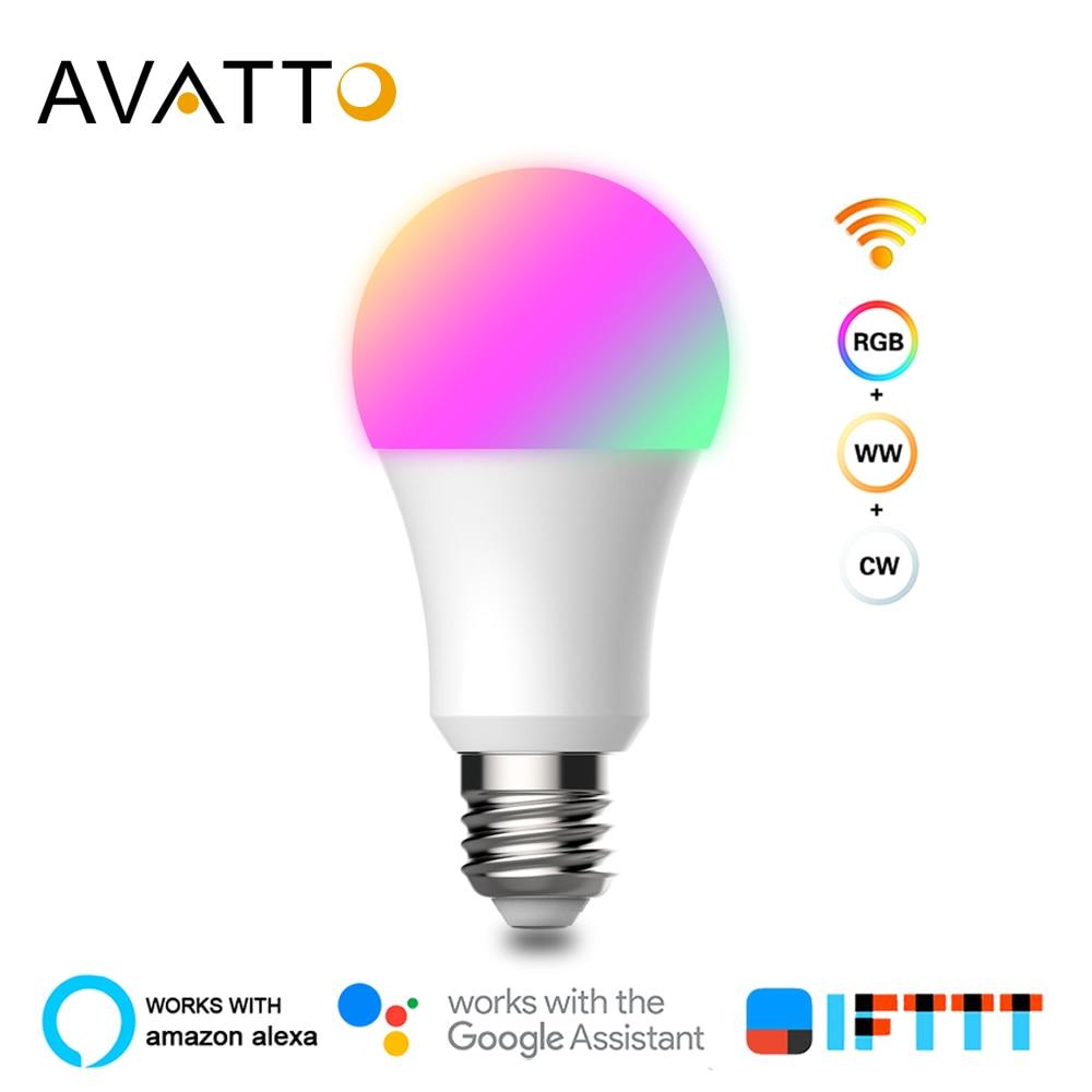 Avatto Led Lamp Smart Light 9W Rgb + Cw E27 Led Afstandsbediening Lamp, smart Bulb Wifi Met Wifi Google Home Alexa Voice Control