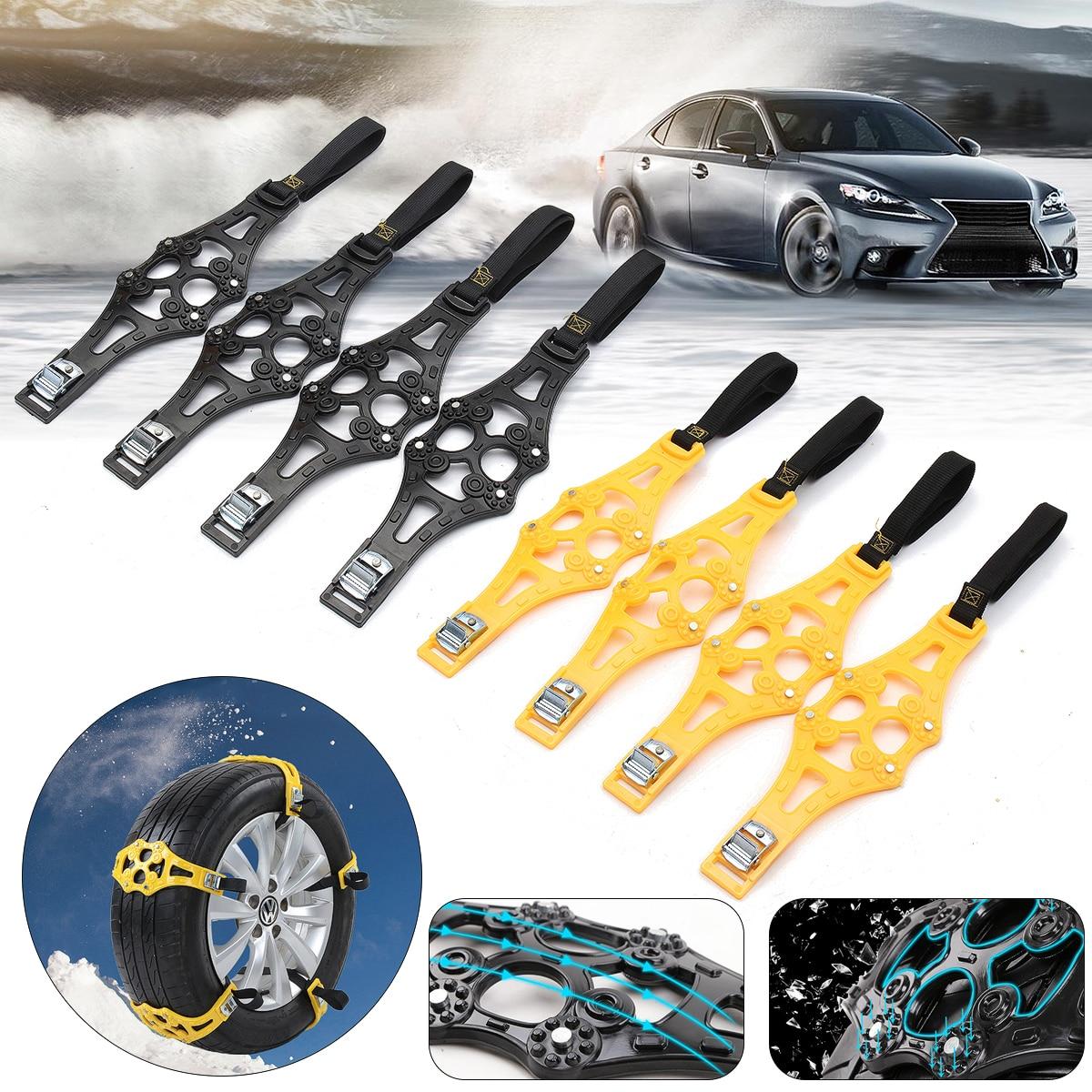 8pcs/set 4pcs/set Car Tyre Winter Roadway Safety Tire Snow Adjustable Anti-skid Safety Double Snap Skid Wheel TPU Chains