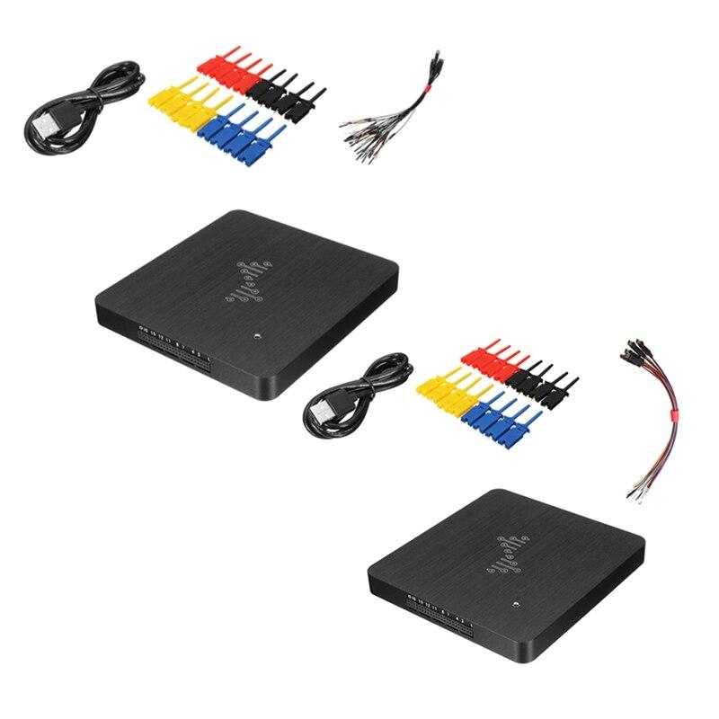 Dslogic u2core Dslogic Plus محلل المنطق 16 قناة 400 متر أخذ العينات USB التصحيح المنطق محلل