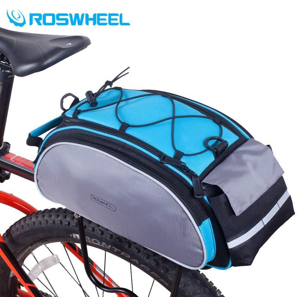 ROSWHEEL Bicycle Carrier Bag 13L Rack Trunk Bike Luggage Back Seat Pannier Outdoor Cycling Storage Handbag Shoulder Strip 14541