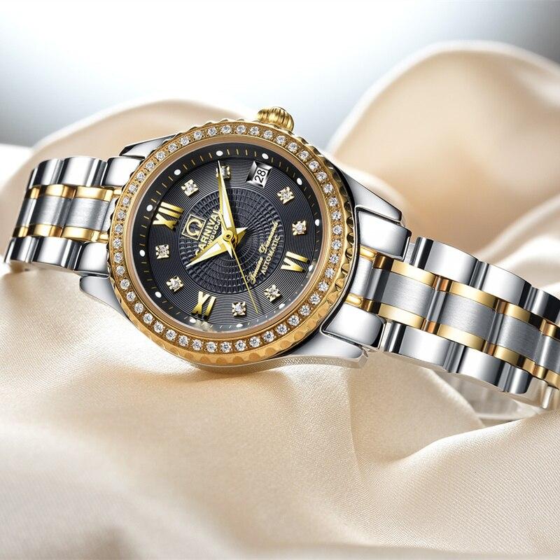 Carnival Women Watches top Luxury Brand ladies Automatic Mechanical Watch Women Sapphire Waterproof relogio feminino reloj mujer enlarge