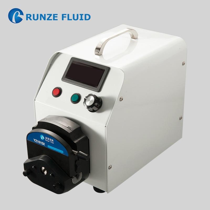 Bomba peristáltica de dosificación de cloro ajustable, análisis de laboratorio, dosificación química, Motor paso a paso, tubería fácil de alta precisión