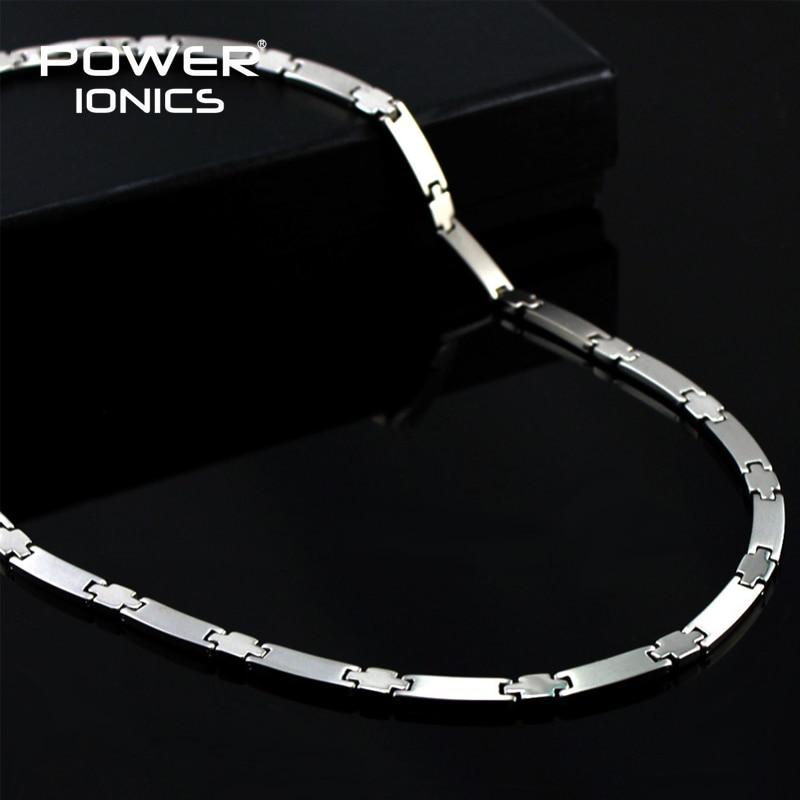 Power Ionics Genuine 100% Titanium 99.999% Germanium Necklace Balance w/ Retail Box PT030