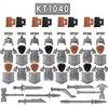 21 pièces nains militaires chevaliers médiévaux groupe le seigneur FiguresToys bloc de construction jouets pour enfants cadeau KT1040