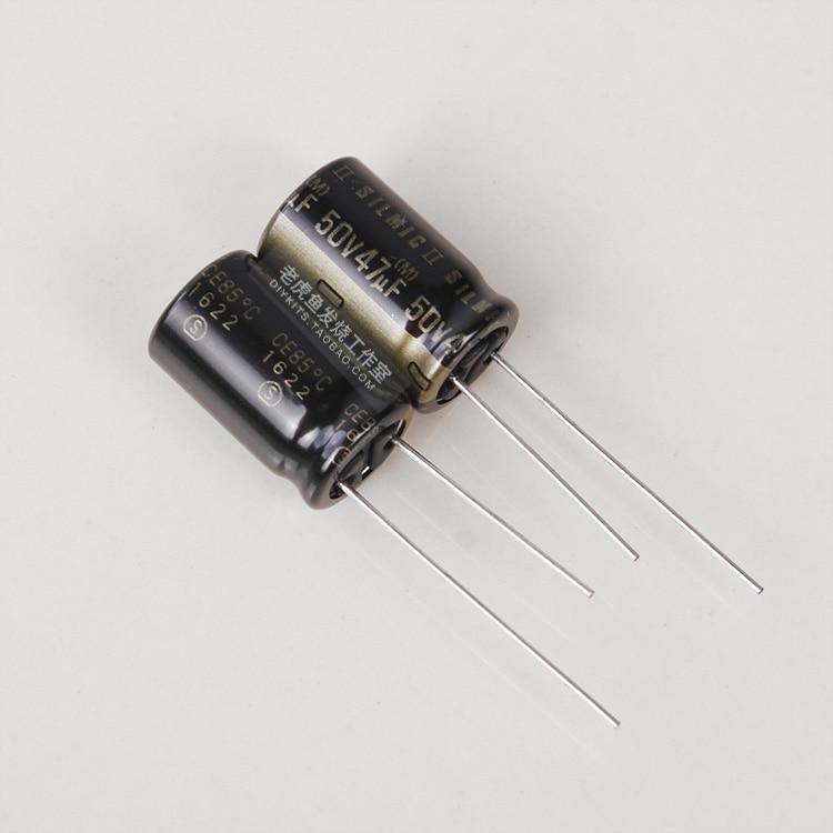 2 uds envío gratis 47 UF/50 V SILMIC II generación RFS Ina ELNA nuevo Original de Audio condensador electrolítico