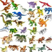 창조자 쥬라기 공룡 세계 공원 타락한 왕국 Carnotaurus & Interbreed Velociraptor T-Rex 영화 공룡 블록 크리에이터