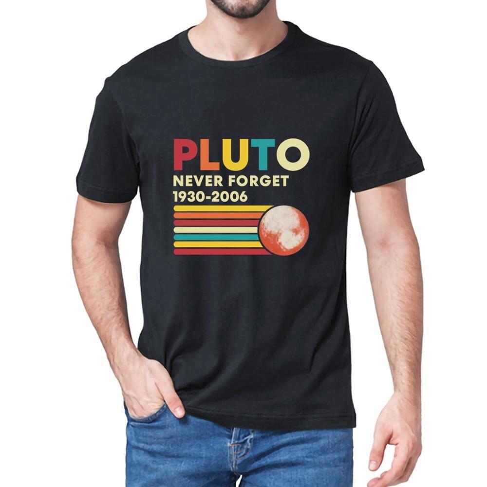 2020-2021 camiseta plutão nunca se esqueça 1930-2006 plutão fan galaxy verão men manga curta em torno do pescoço moda algodão casual magro