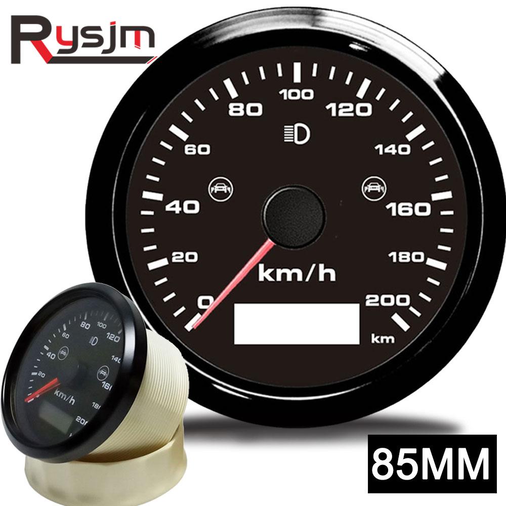 85 مللي متر العالمي لتحديد المواقع عداد السرعة مع BSD العمياء بقعة كشف إنذار السرعة الزائدة الجرس إنذار مجموع الأميال 0-200 km/ساعة مع جهاز استشعار