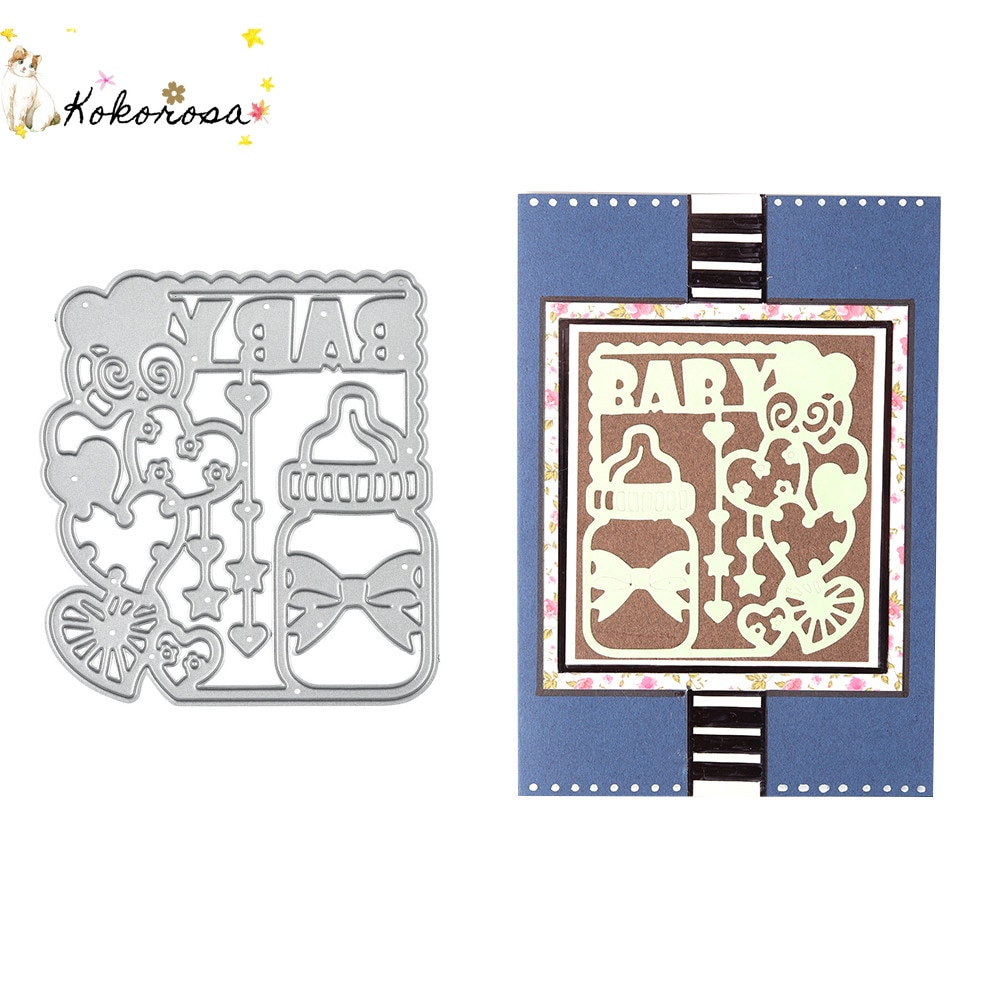 Kokorosa Baby Supplies Goods Decoration Metal Steel Frames Cutting Dies DIY Scrap Booking Photo Album Embossing Paper Cards Dies