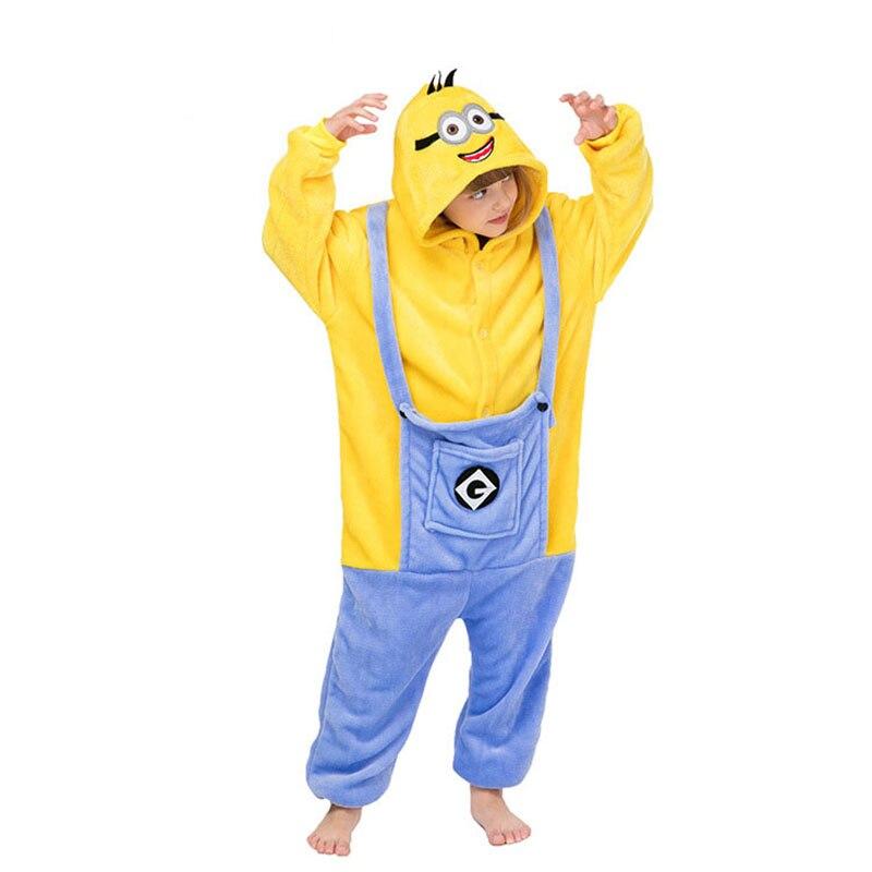 Minions Kigurumis Onesies Für Kid Cartoon Homewear Pyjama Mädchen Junge Party Overall Cosplay Nachtwäsche Kinder Kleidung