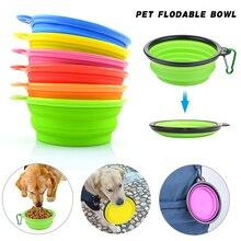 Bols pour animaux de compagnie en Silicone Portable couleur unie pliable facile à prendre animaux de compagnie produit nourriture eau bols dalimentation pliant chien chat bols de voyage