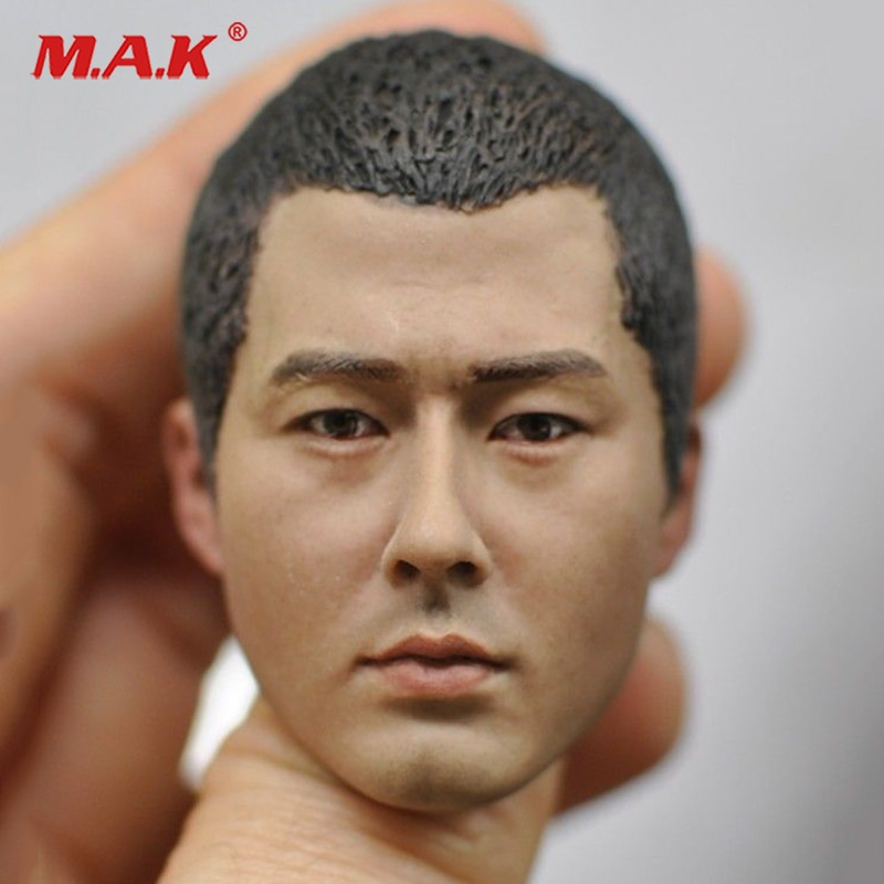 In stock 1/6 Scale male head sculpt carved model KM16-87 fits  12