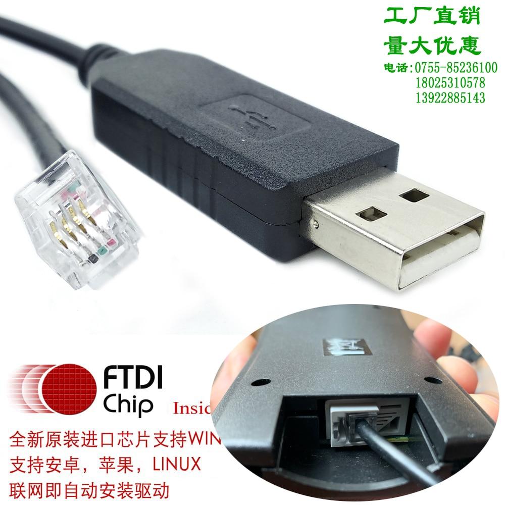 Cable de serie Ftdi Usb rs232- rj9 rj12 rj45 para Pc a...
