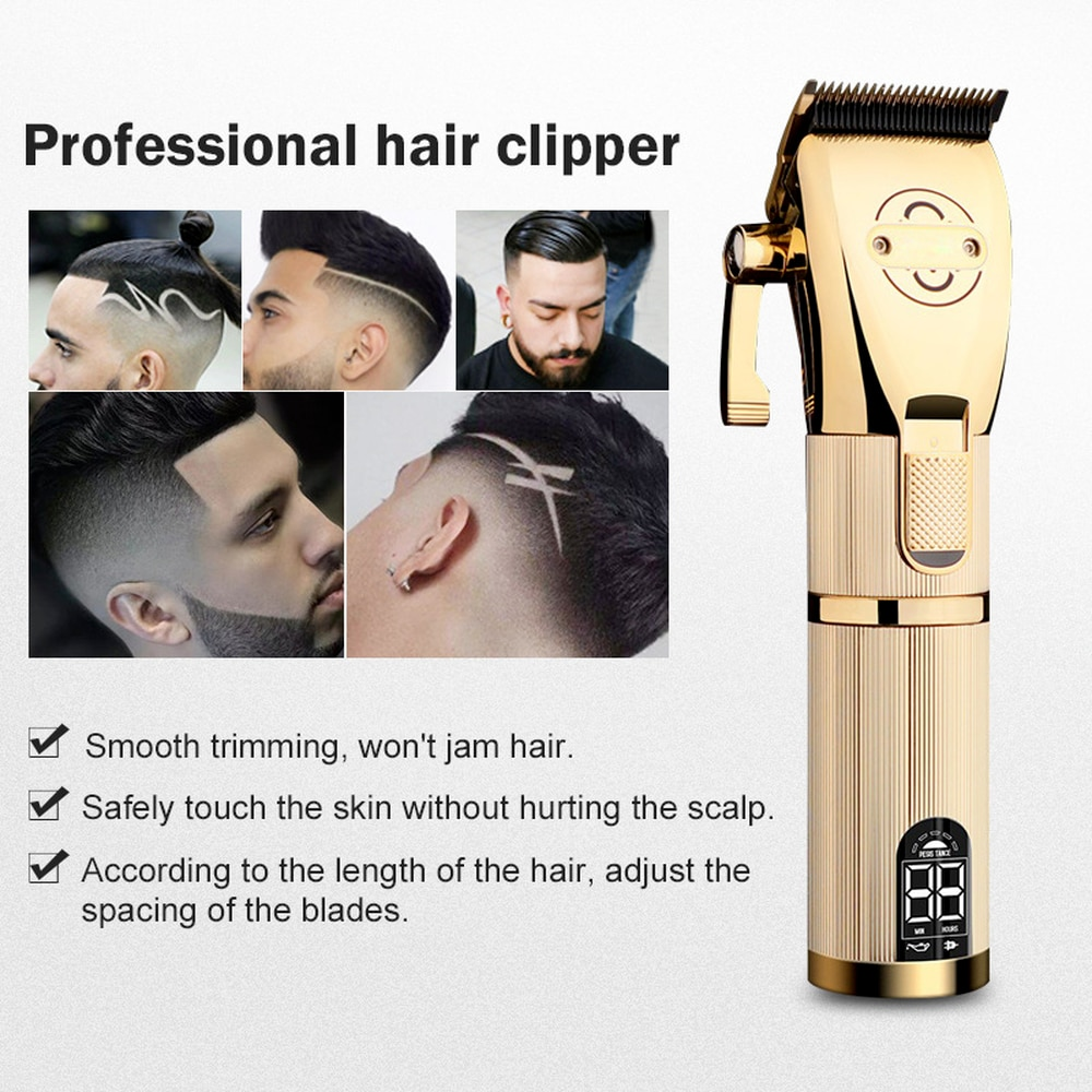 2021 Professional Hair Clipper Electric Hair Trimmer Cordless Shaver Trimmer 0.1mm Men Adjustable Barber Hair Cutting Machine enlarge