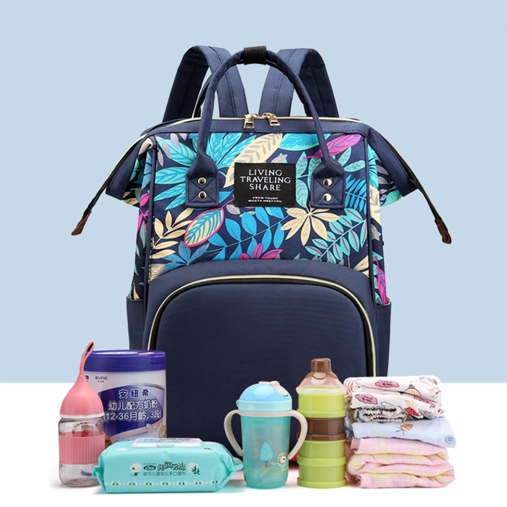 Fashion Canvas Mummy Stroller Bag Women's Travel Portable Large Capacity Diaper Maternity Nappy Mother Baby Care Bag Backpacks