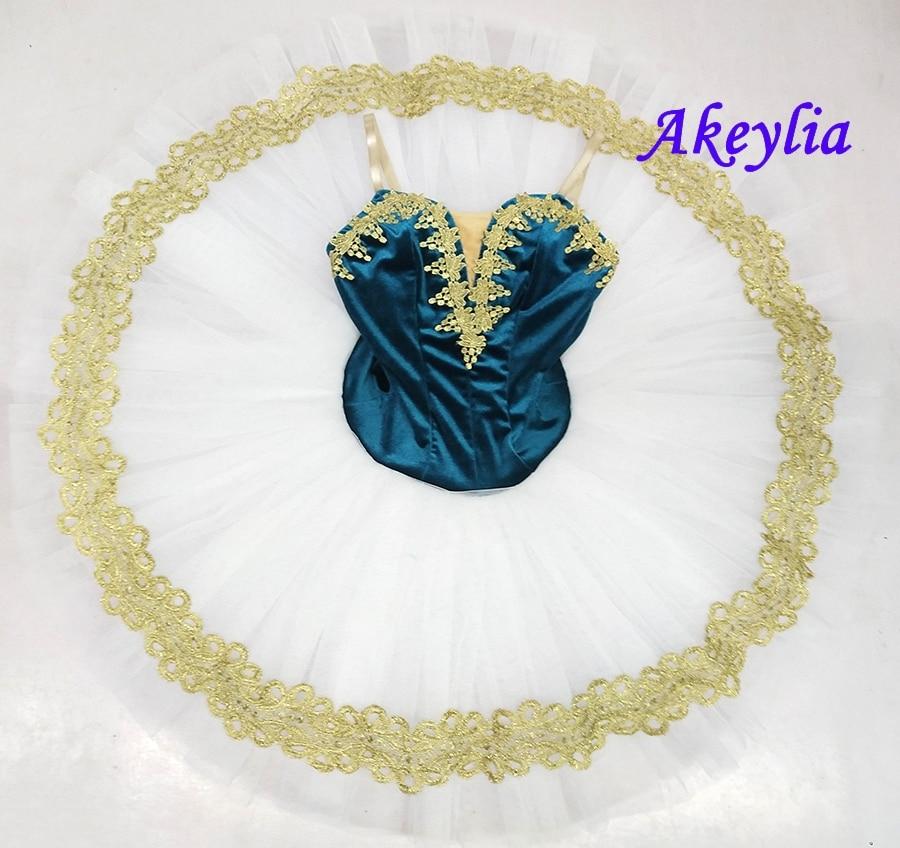 Blue green white pre-professional pancake ballet tutu women girl classical dance costume ballet tutu ballerina dancewear 19070