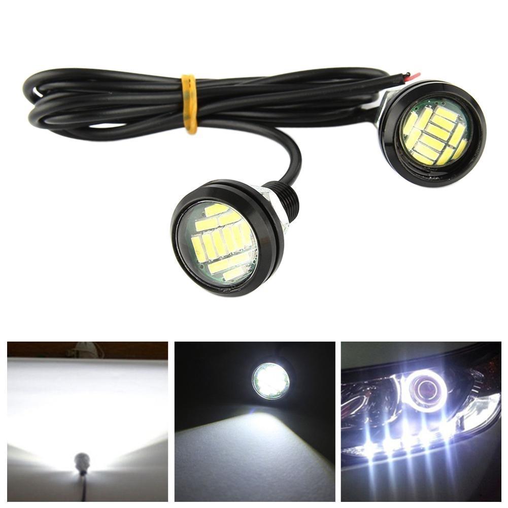 2PCS 12V Eagle Eye LED Light 12SMD 23MM Car DRL Daytime Running Backup Signal Light Bulb Waterpproof Light Motorcycle Screw Lamp