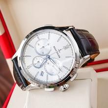 2021 Reef Tiger/RT Luminous Watch Men Luxury Watch White Dial Date Steel Watch Chronograph Quartz Le
