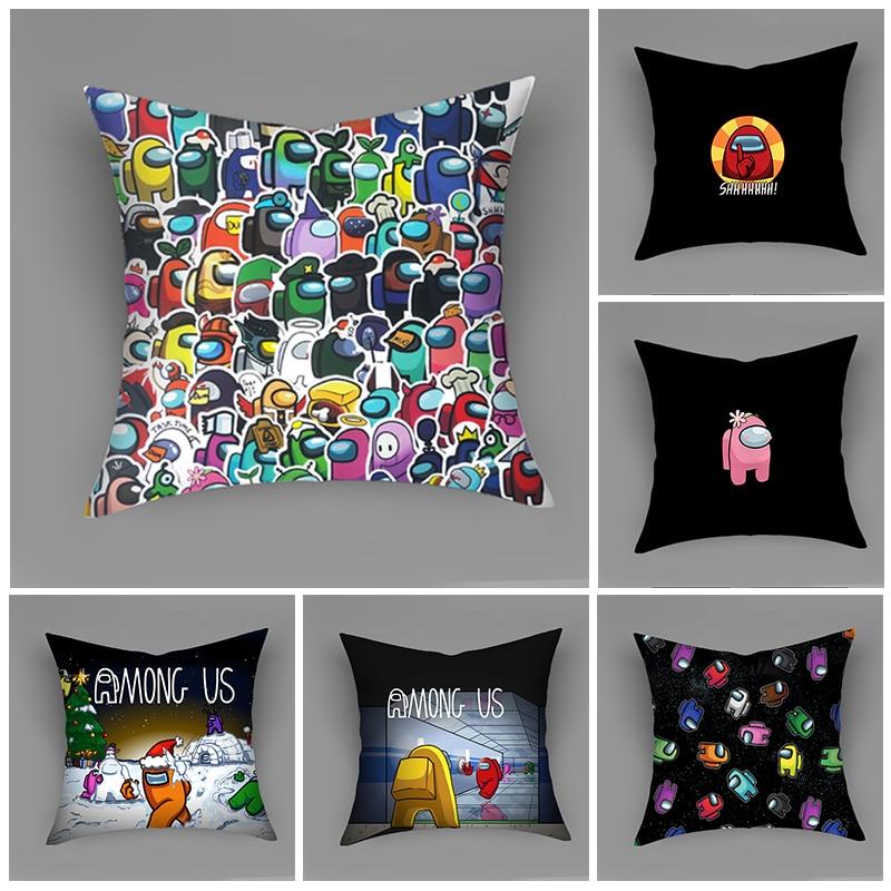 45*45 домашние декоративные диванные подушки, Наволочки среди нас, наволочки для дивана, наволочки из полиэстера, декоративные подушки