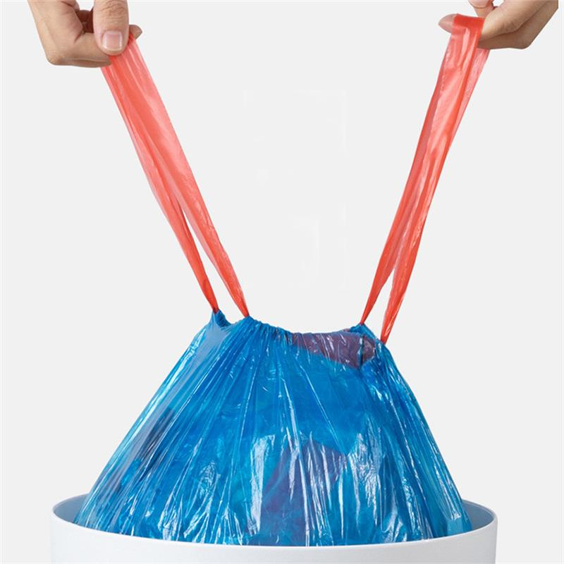 Drawstring Trash Bags Kitchen Garbage Bags Large White Garbage Bin Bathroom Trash Can Bin Liners Plastic Bag Dispenser Household