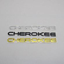 Für Jeep Cherokee Emblem Logo Aufkleber 3D Brief Wort Kofferraum Auto Körper ABS Chrome Typenschild Auto Abzeichen Aufkleber