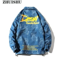 fashion double sided mens jacket buttons letter patter print windbreaker 2021 new coat spring autumn casual clothing