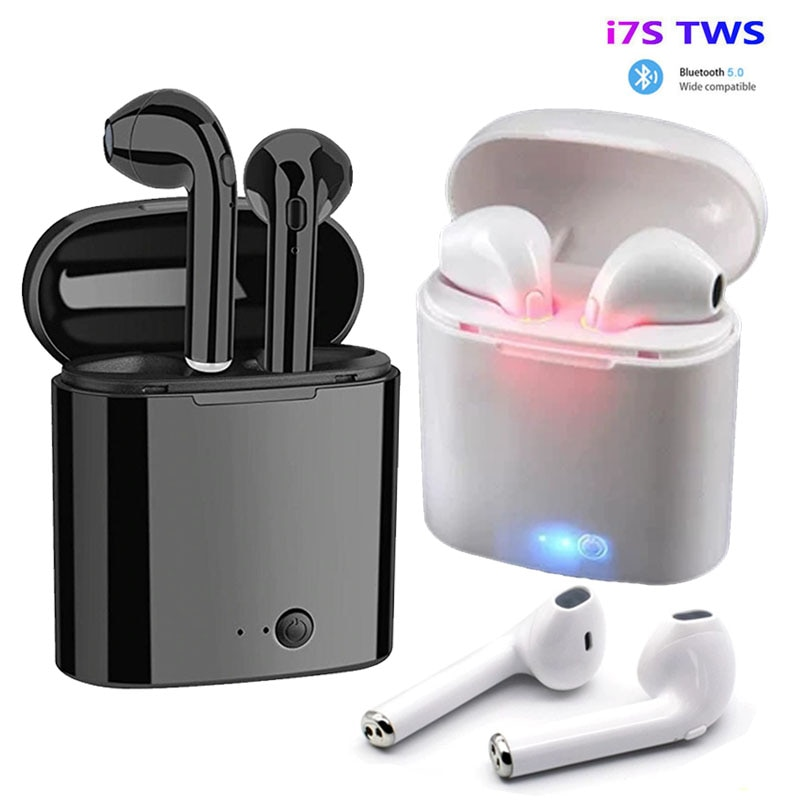 i7s tws Wireless Headphones Bluetooth 5.0 Earphones sport Earbuds Headset With Mic Charging box Head