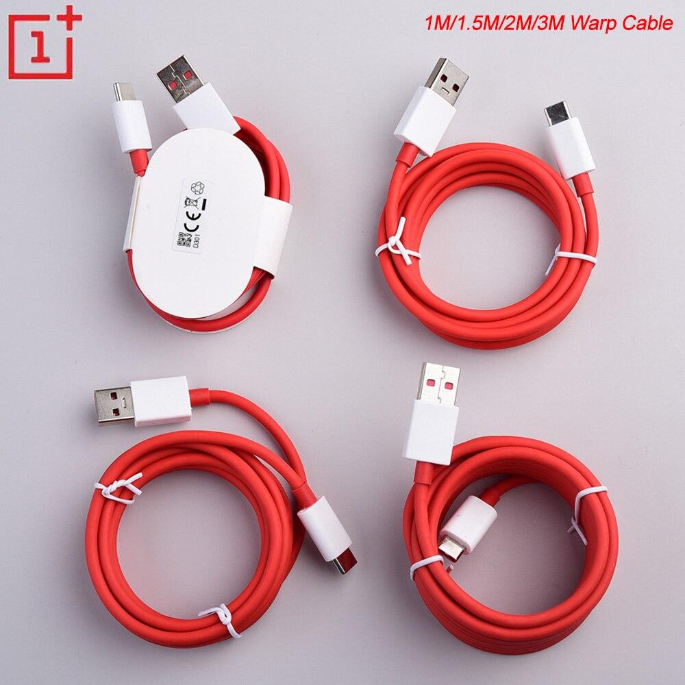 Original 6A Warp Cable cargador 1/1 5/2/3M USB Dash de carga rápida Cable de datos para Oneplus 3T 5T 5T 6T 7T 7 Pro