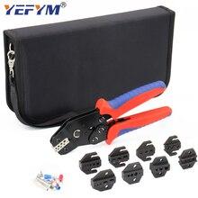 YEFYM SN-48BS/2549 herramientas de crimpado para XH2.54 Tab2.8 4,8/6,3/Tubular/terminales con 8 mandíbula Kit eléctrico alicates