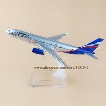 16 سنتيمتر روسيا الهواء Aeroflot الروسية A330 ايرباص 330 الخطوط الجوية سبيكة معدنية نموذج طائرة طائرة طائرة دييكاست