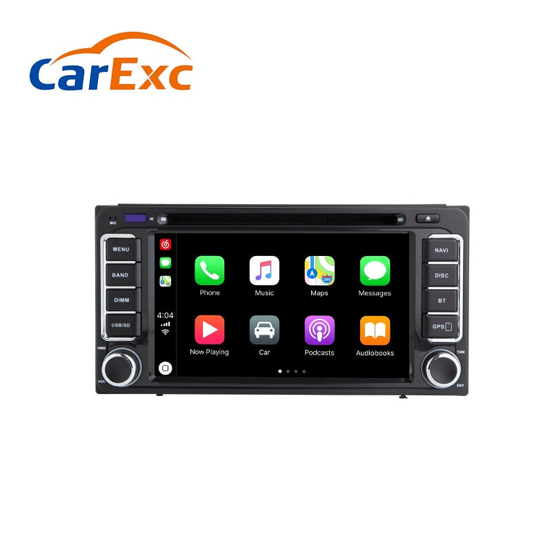 Android 9,0 Autoradio incorporado CarPlay navegación GPS Compatible con para Toyota Land Cruiser Prado 120 150 prisa Corolla EX Univ