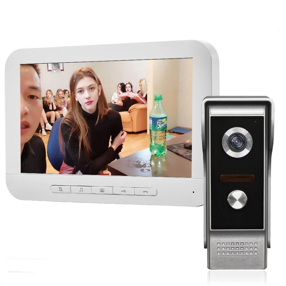 New 7 Inch  Video Intercom System 4 Wire intercom Home Security Access Control System Doorbell Camera for Villa enlarge