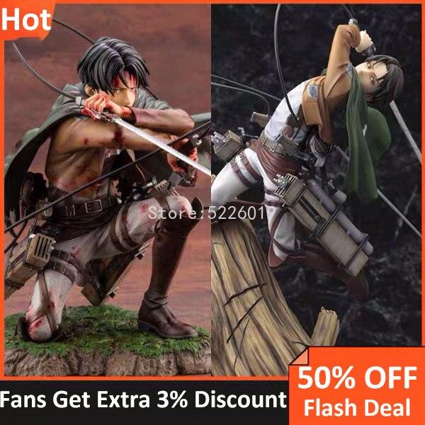 18CM Anime ATTACK ON TITAN Figure ARTFX J Fortitude Ver. Action Figure Rivaille Heichov Sergeant Major Figurine