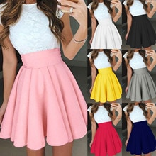 2021 New Autumn Winter Women Fashion High Waist Tutu Multicolor Pleated Solid Short Skirt Women Casu